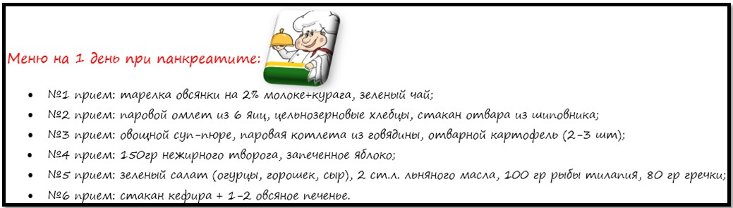 Диета и меню при панкреатите
