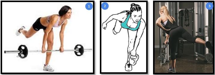 Варианты упражнения становая тяга на одной ноге