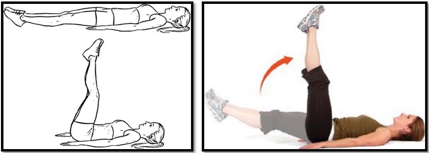 Техника выполнения упражнения подъем ног в положении лежа