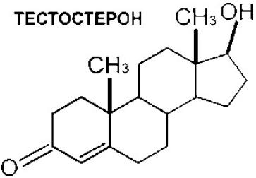 химическая структура, формула тестостерона