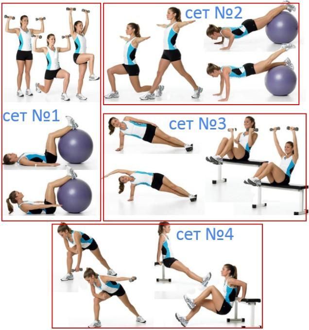 Схема повторений в упражнениях