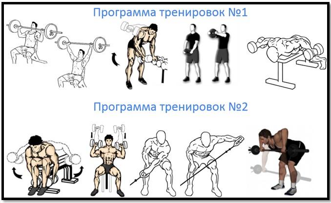 Программа тренировки плеч №2
