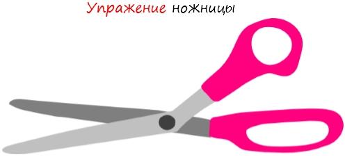 Упражнение ножницы