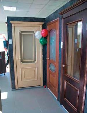 двери с частичным заполнением