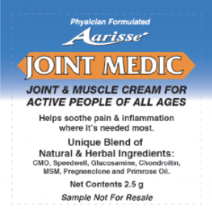 Joint Medic Cream Sample