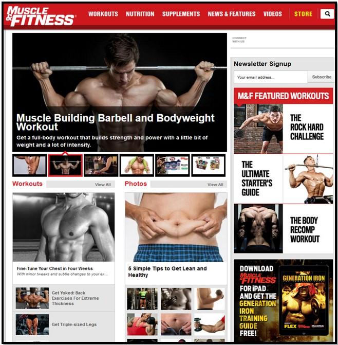 сайт muscleandfitness