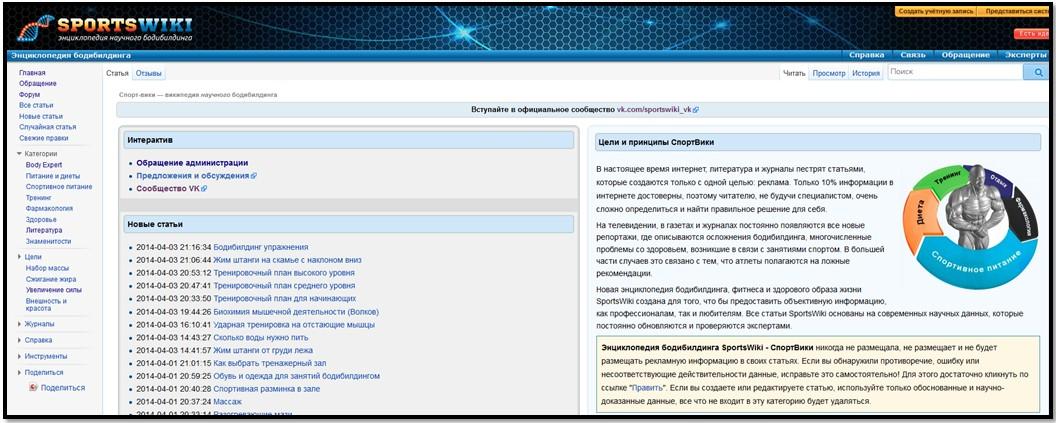 сайт sportswiki