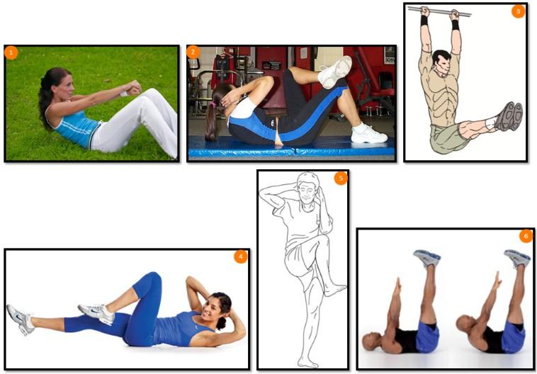 упражнения для прямой и косых мышц живота