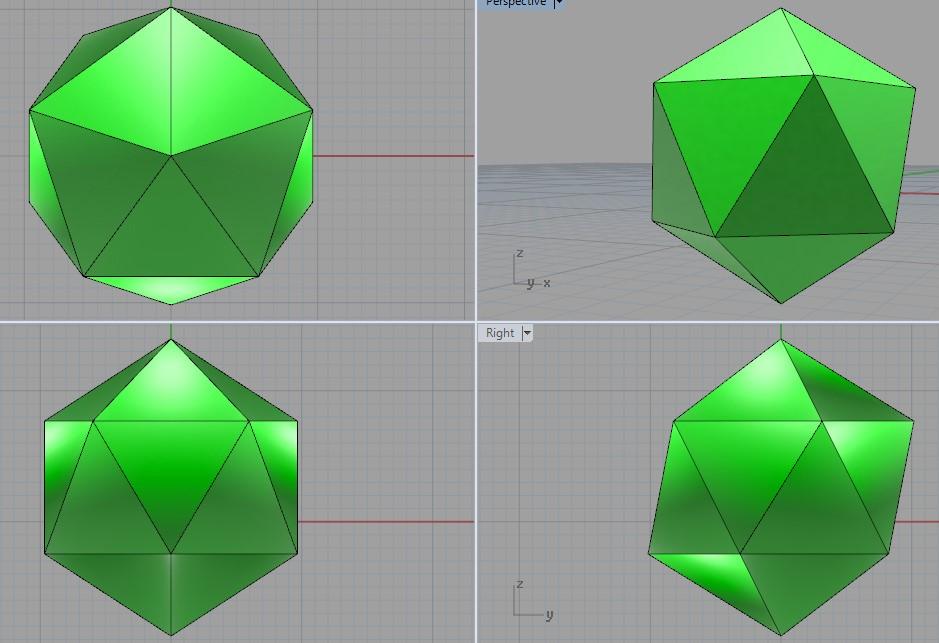 Как построить правильный икосаэдр в 3d. Х___Х ILuQss