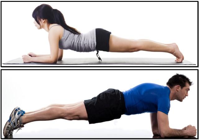 упражнение  планка,  техника  выполнения