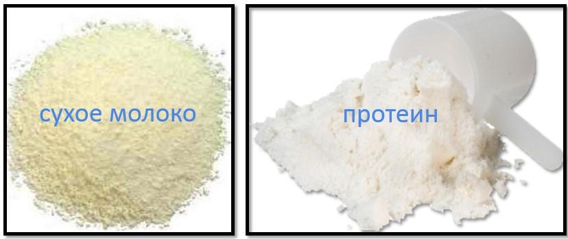 протеин против сухого молока