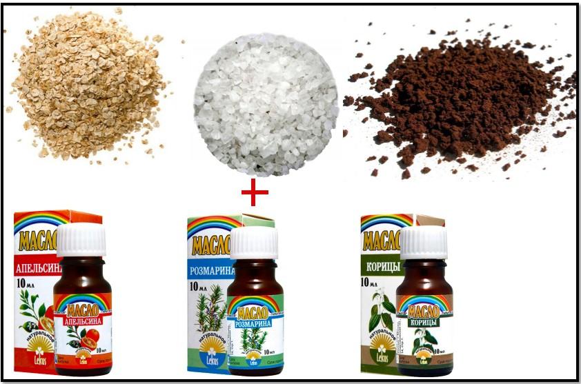 антицеллюлитный скраб, рецепт 2