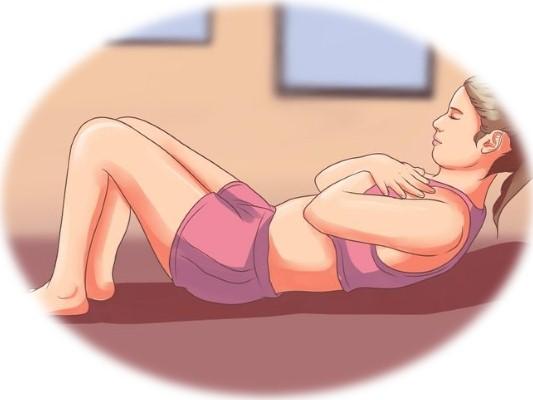 упражнения для избавления от живота, 2