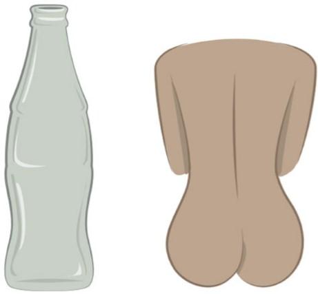 форма женских ягодиц, бутылка