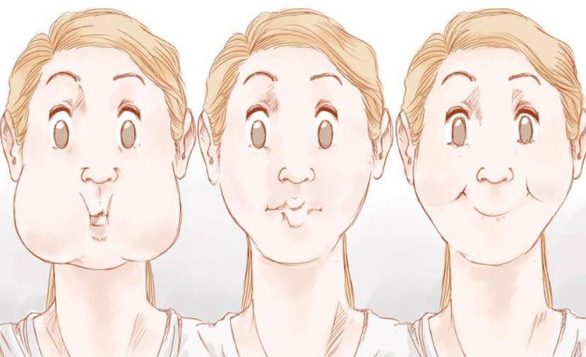 упражнения для похудения лица, 2